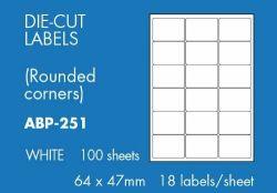 Tarra 64 x 47mm, 18 -osainen, 100 arkkia/pakkaus