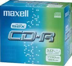 Tietolevy CD-R 700MB/80min 52x 10/pak