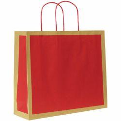 Paperikassi Ecology punainen 320x100x270mm 200kpl/pak