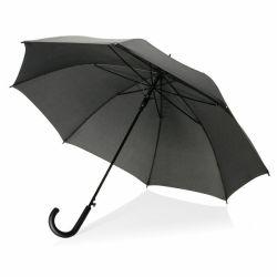 Sateenvarjo koukkukahvalla musta