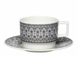 Kuppipari Sirkus, kahvikuppi ja lautanen