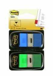 Teippimerkki Index 680-GB2 vihreä ja sininen, 2x50 kpl
