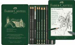Grafiittisetti Monochrome Pitt, 12 kynää/setti