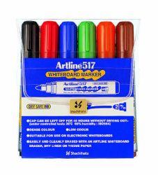 Taulukynä EK-517/6W Drysafe 2 mm pyöreä 6 väriä/sarja