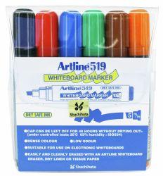 Taulukynä EK-519/6W Drysafe 2-5 mm viisto 6 väriä/sarja