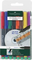 Multimark-kynä Fine spriiliukoinen 8 väriä/sarja