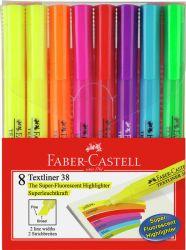 Korostuskynäsarja Textliner 38, 8 väriä/sarja