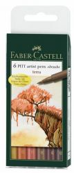 Sivellinkynä Pitt Terra, 6 väriä/sarja