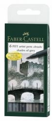 Sivellinkynä Pitt Shades of Grey, 6 väriä/sarja
