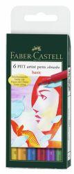 Sivellinkynä Pitt Basic, 6 väriä/sarja
