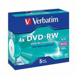 Tietolevy DVD-RW 4,7GB 4x 5 kpl/pak