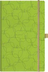 Muistikirja Royal Full A5, v.vihreä, omenat, viivat