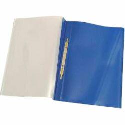 Esitekansio  E466, 233x310 mm, kirkas etukansi taskulla, sininen