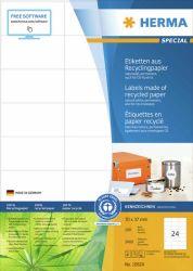 Kierrätystarra  10824, A4, 70x37 mm, 100 arkkia/laatikko