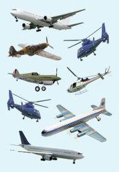 Decor-tarra  Lentokoneet 24 tarraa