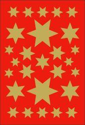 Decor-tarra  Kultaiset tähdet 81 tarraa