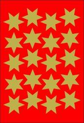 Decor-tarra  Kultaiset tähdet 60 tarraa