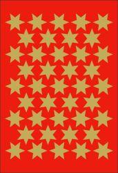 Decor-tarra  Kultaiset tähdet 123 tarraa