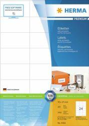 Tulostustarra  Premium 4464, 70x37 mm, 24-osainen, 100 arkkia/laatikko