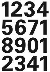 Numerotarra säänkestävä 4168, 32 tarraa, 25 mm, 0-9
