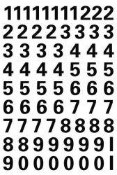 Numerotarra säänkestävä 4159, 10 mm, 0-9