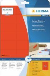 Tulostustarra  Premium 4466, 70x37 mm, 24-osainen, punainen, 20 arkkia/rasia