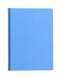 Kierrevihko A4 sininen 7x7 mm ruudut 80 sivua