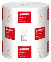 Käsipyyherulla Katrin Classic System Towel M2, valkoinen 6 rll/ltk