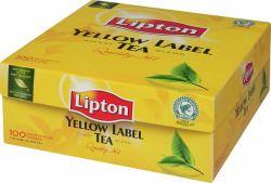 Pussitee Yellow label musta tee 100 pussia/rasia