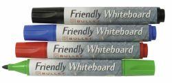 Taulukynäsarja Friendly Marker pyöreä 4 väriä/sarja 1-3mm