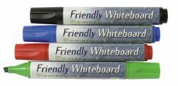 Taulukynäsarja Friendly Marker viisto 3 mm 4 väriä/sarja