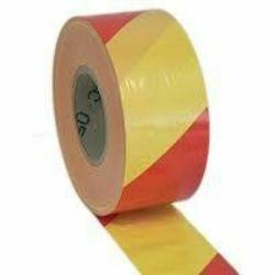 Sulkunauha 75mm x 500m Puna-keltainen