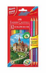 Värikynäsetti Ecopen, 12 kynää ja 3 kaksipäistä värikynää