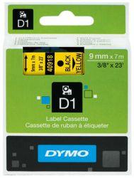Tarrakasetti  D1 9mmx7m musta/keltainen
