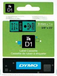 Tarrakasetti  D1 9mmx7m musta/vihreä