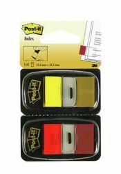 Teippimerkki Index 680-RY2 punainen ja keltainen, 2x50 kpl