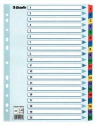 Hakemisto A4 1-20 muovikielekkeet