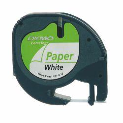 Tarrakasetti  Letratag 12mmx4m valkoinen paperi