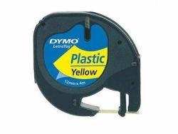 Tarrakasetti  Letratag 12mmx4m keltainen muovi