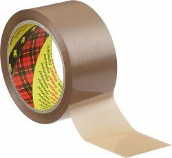 Pakkausteippi ruskea, 50mm x 66m, äänetön