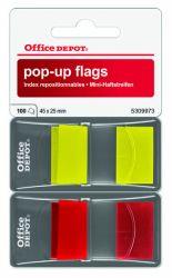 Teippimerkki 2x50 kpl, keltainen/punainen
