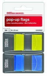 Teippimerkki 2x50 kpl, keltainen/sininen