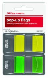 Teippimerkki 2x50 kpl, keltainen/vihreä