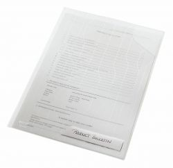 Muovitasku CombiFile, A4, kirkas, 180 mic, 2-sivua auki, 5 kpl/pakkaus