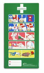 Hätäensiapu-ohjetarra 33x18 cm, tekstitön