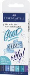 Taiteilijakynäsetti  Pitt Lettering, siniset sävyt, 6 väriä/setti