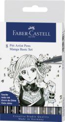 Sivellinkynä Pitt Manga-setti, 8 kpl/sarja