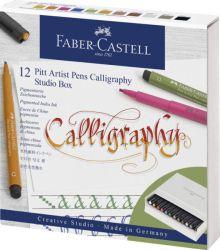Taiteilijakynäsarja Pitt Artist, 12 kynän sarja, kalligrafia