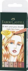 Taiteilijakynä Pitt Light Skin Tones, 6 väriä/srj