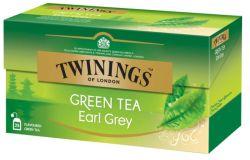 Teepussi vihreä tee Early Grey 25 pussia